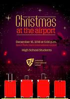 High School Christmas at the airport